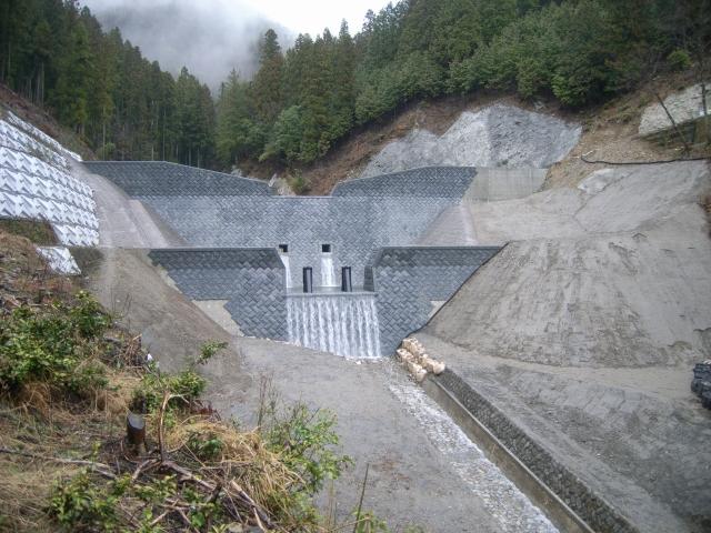 下流から見た堰堤